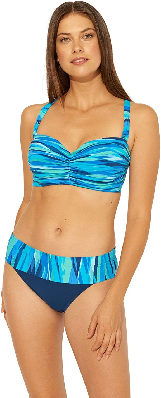 Bleu Rod Beattie Women's Shirred Underwire Bandeau Bikini Top (D+ Cup)
