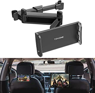 """Car Headrest Tablet Mount - Tryone Stretchable Tablet Headrest Holder Compatible with Smartphones/Tablets/Switch 4""""-10.6"""", Headrest Posts Width 4.7in-5.9in"""