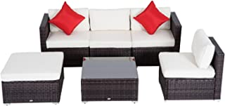 Outsunny 01-0319 Sofa Sectional Furniture Set, Deluxe