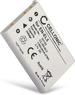 CELLONIC Batería Premium Compatible con Nikon CoolPix P510 P520 P530 P500 P100 P90 P80 P6000 P51000 P4 P3 CoolPix S10 CoolPix 3700 7900 5900 5200 4200 EN-EL5 1180mAh ENEL5 bateria Repuesto Pila