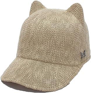 8540b95d430 Women Baseball Caps Spring New Knitted Cute Cat-Ear Baseball Hats Feminino  Casual Cap Casquette