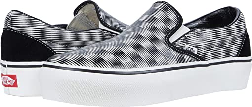 (Hemp Blur Checker) Black/Marshmallow