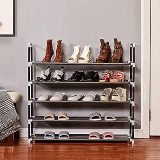 Shoe Rack, 25 Pairs, 5 Tiers Shoe Organizer, Shoe Racks for Closets, Shoe Organizer for Closet, Closet Shoe Organizer, Shoe Rack Organizer, Shoe Rack 25 Pairs, Tall Shoe Rack, 38