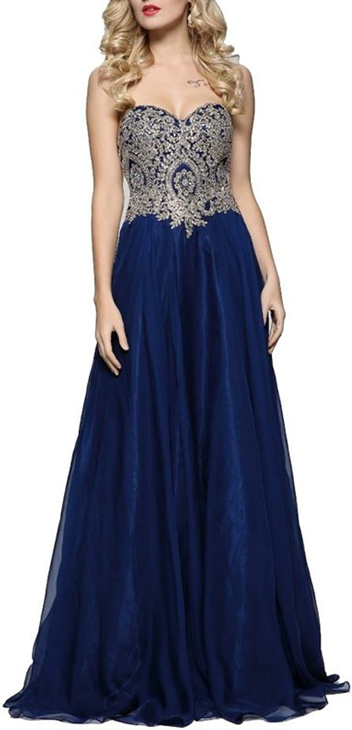 Anna's Bridal Women's Embroidery Prom Dresses 2019 Long Bridesmaid Dress