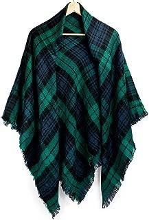 Plaid Scarfs for Women Pashmina Tartan Wrap Large Warm Blanket Soft Shawl Checked Winter Fall Scarfs Scarves for Woman