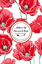 Address and Password Book Included Birthday: All-In-One Organizer Addresses, Passwords Keeper, Included Anniversary, Impor...