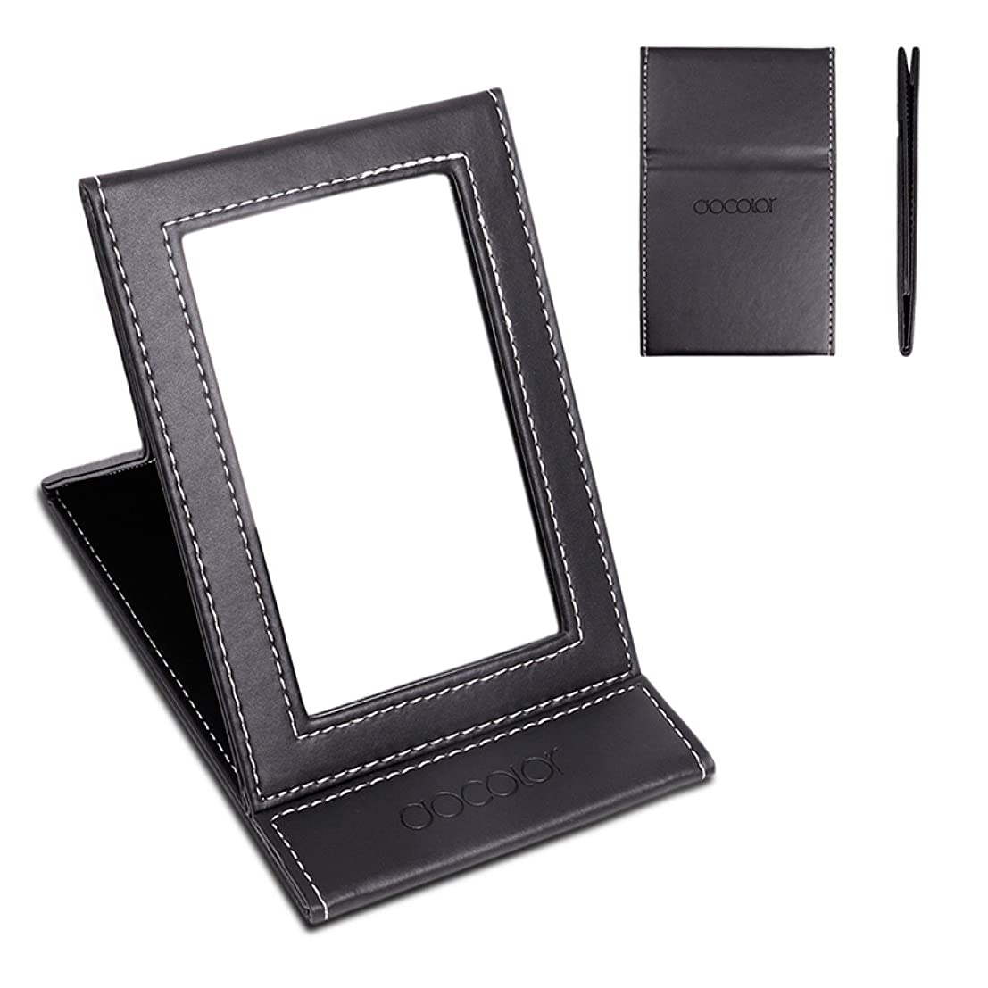 感動する余分な従う化粧鏡 卓上ミラー 折りたたみ式-DOCOLOR スタンドミラー 携帯用ミラー
