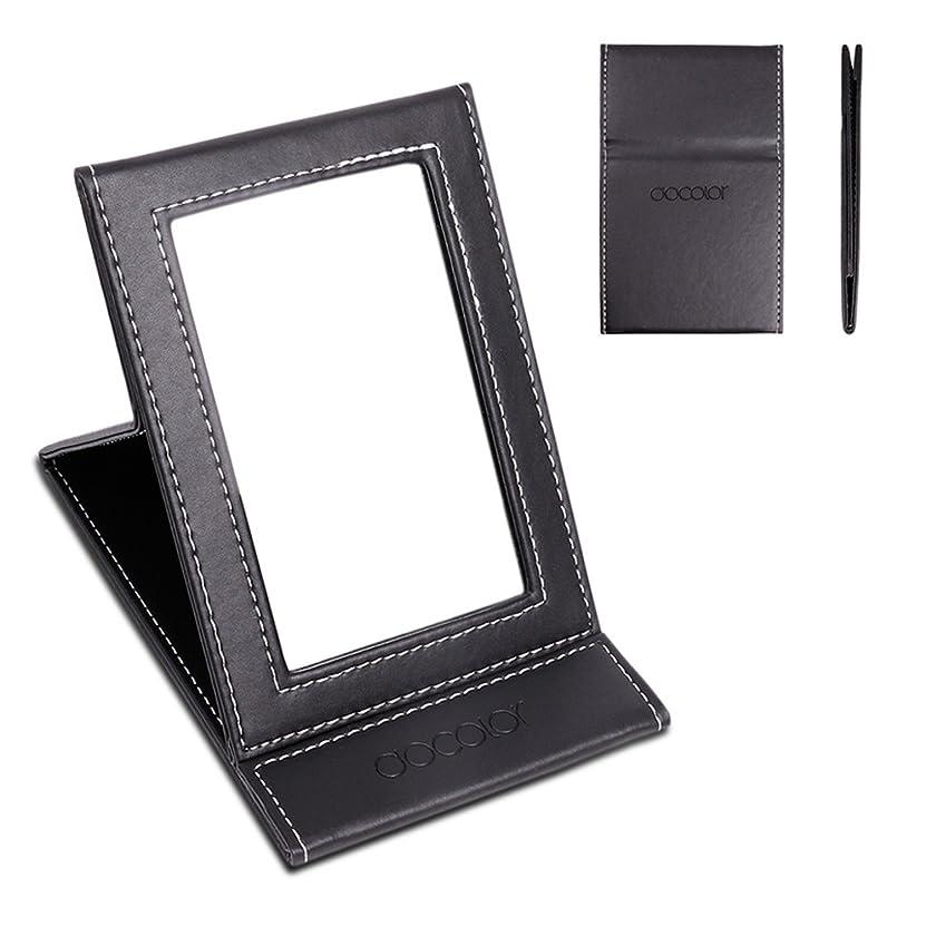 波紋おもしろいキノコ化粧鏡 卓上ミラー 折りたたみ式-DOCOLOR スタンドミラー 携帯用ミラー