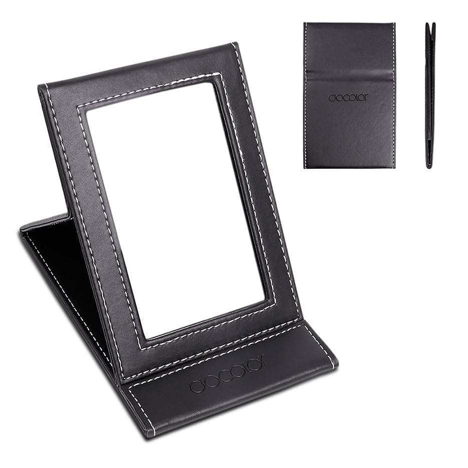 熟練したアライメント構造化粧鏡 卓上ミラー 折りたたみ式-DOCOLOR スタンドミラー 携帯用ミラー