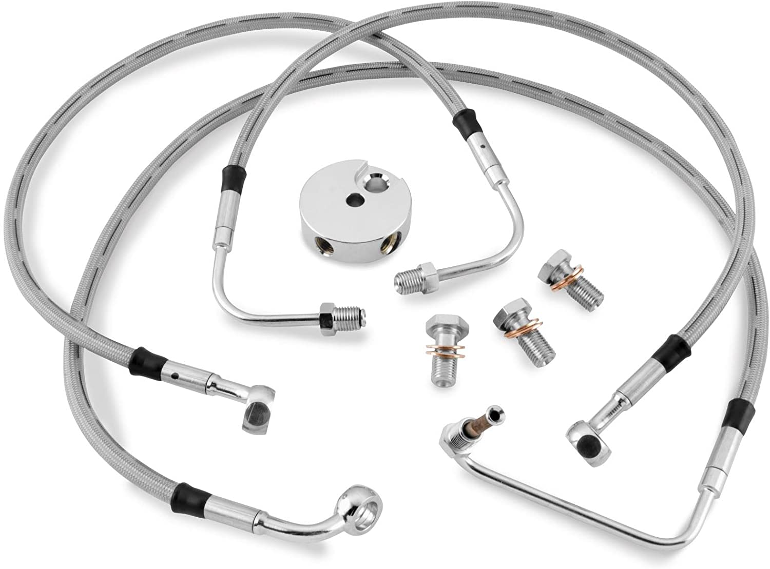 Bikers Spring new work Complete Free Shipping one after another Choice Brake Line Kit Rear Stock Stainless C HD FLST for