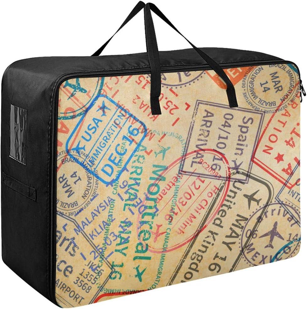 Liaosax Zip Garment Bag Creative Colorful Mens Translated Gar Very popular Art World Map