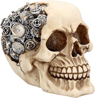 Steampunk Monocle Man Skull Ornament By Nemesis Now Skull Figure Clockwork Style