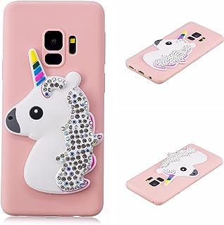babefb4028 HopMore Compatible con Funda Xiaomi Pocophone F1 Silicona Unicornio 3D  Divertidas Glitter Brillante Gracioso Purpurina Ultrafina