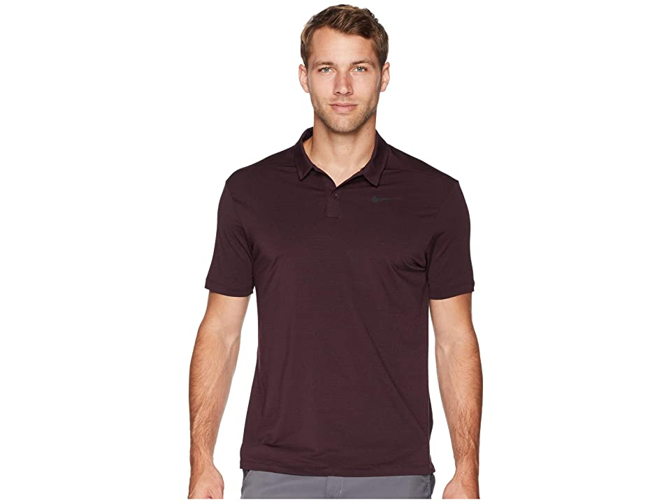Nike Golf Dry Polo Heather Textured (Burgundy Crush/Burgundy Ash/Black/Black) Men