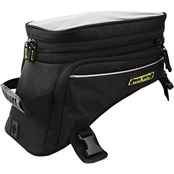 Nelson-Rigg Trails End Adventure Motorcycle Tank Bag RG-1045, Black, Holds 12.39/16.52 liters