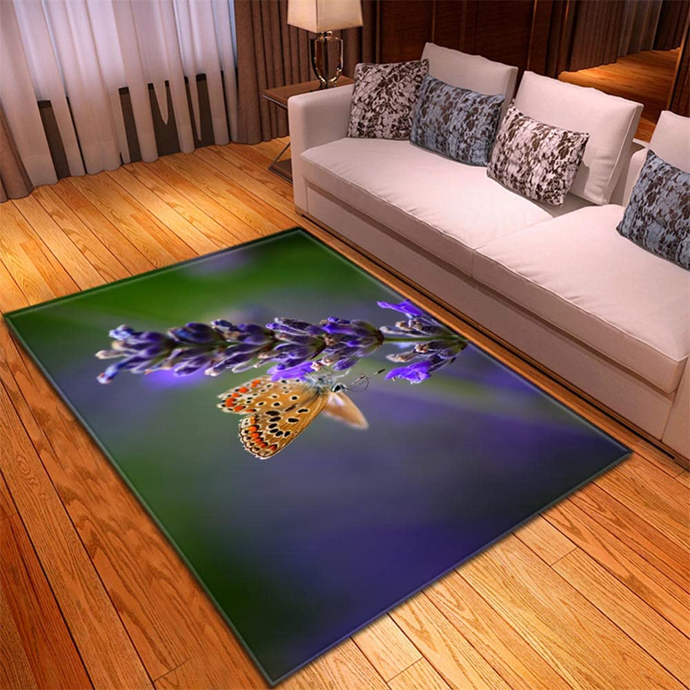 Rug Green Purple Modern Max 49% OFF Area Outlet sale feature Super Rugs Slip Thic Non Soft