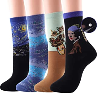 Fun Socks For Women, Art Novelty Cool Funny Funky Crazy Dress Socks, Pack