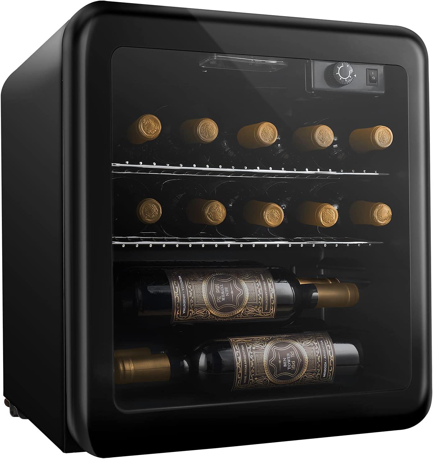Vinoteca 16 Botellas con Estantes Extraíbles