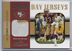 2003 Playoff Prestige Football J.J. Stokes Game Day Jersey Patch Card # GDJ-33