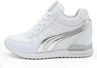 Zapatillas de Cuña para Mujer Zapatillas de Deporte Zapatillas Altas Primavera/Verano Tacón Cuña 7CM