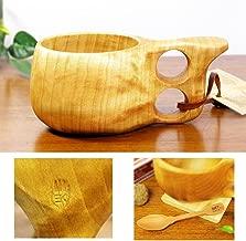北欧フィンランド木製 本物ククサ Kuksa Koivumaa(コイヴマー)190cc 白樺のコブ使用 説明書 箱包装 木製ヴィンテージスプーン付き