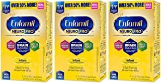 Enfamil NeuroPro Infant Formula - Brain Building Nutrition Inspired by Breast Milk - Powder Refill Box, 31.4 oz (Pack of 3)
