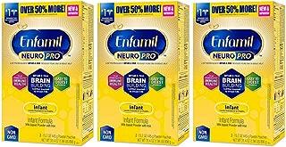 Enfamil NeuroPro Infant Formula - Brain Building Nutrition Inspired by Breast Milk - Powder Refill Box, 31.4 oz (31.4 Ounce(Pack of 3))
