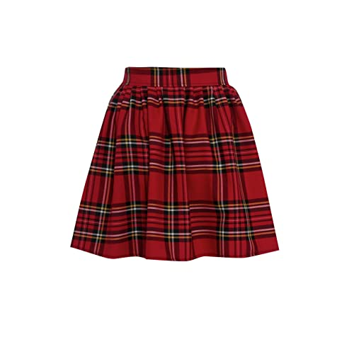 f62d738c9 Miss Skinny New Womens RED Black Ladies Tartan Skater Mini Skirt  Elasticated Waist Size 8-