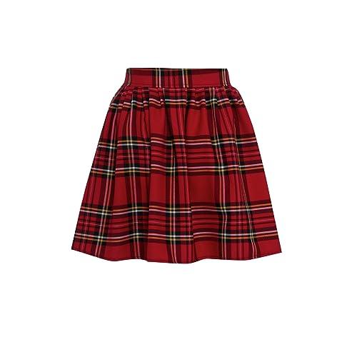 a9c42aa421 Miss Skinny New Womens RED Black Ladies Tartan Skater Mini Skirt  Elasticated Waist Size 8-