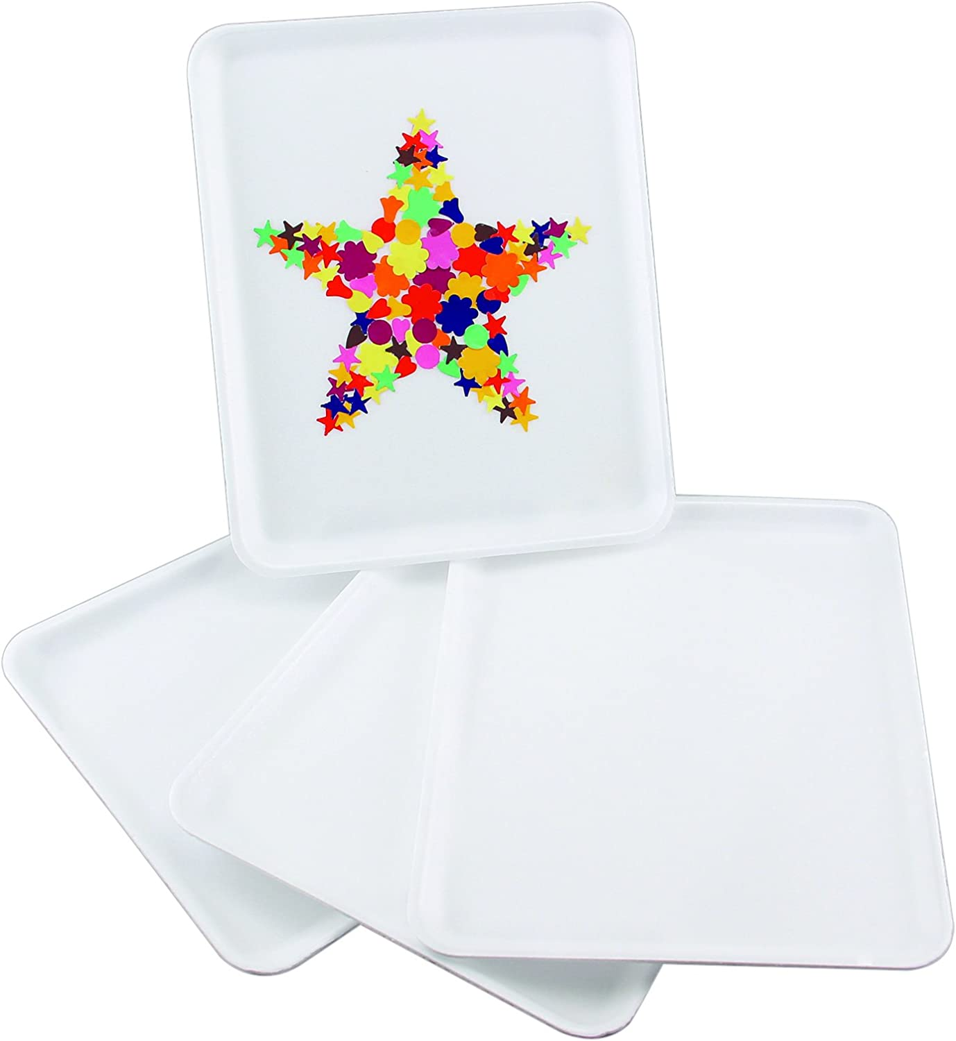 Hygloss Collages and Crafts Foam 10 Fashionable Trays Max 46% OFF Pieces White