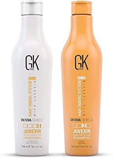 Global Keratin GK Hair Shield Shampoo & Conditioner 240ml Color Protection Deep Cleansing for Dry Dull Organic Formula By ...
