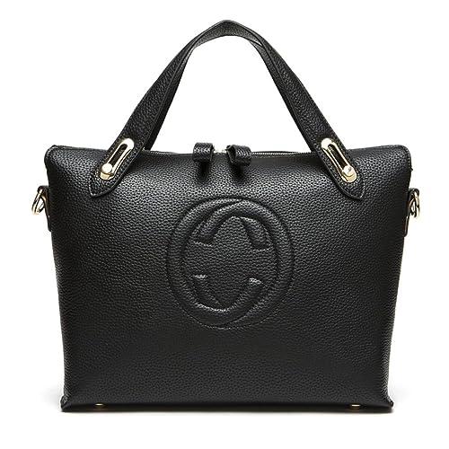 2756a763eb Women's 'Gucci' Designer Style Leather Bucket Tote Bag - Shopper Handbag