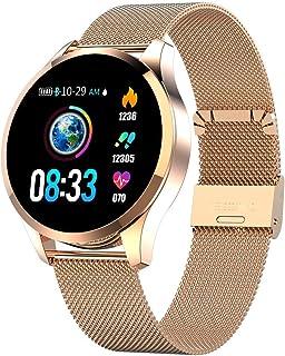 Cacoffay Reloj Deportivo con Bluetooth para Hombre Reloj Deportivo Smartwatch Reloj de Pulsera para Mujer con podómetro Monitor de Ritmo cardíaco Monitor de sueño para Android iOS