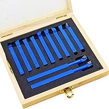 YUNRUX Juego de 11 pinzas para m/áquina de torneado de metal duro juego de herramientas de torneado con placas reversibles de 10 x 10 mm para torno