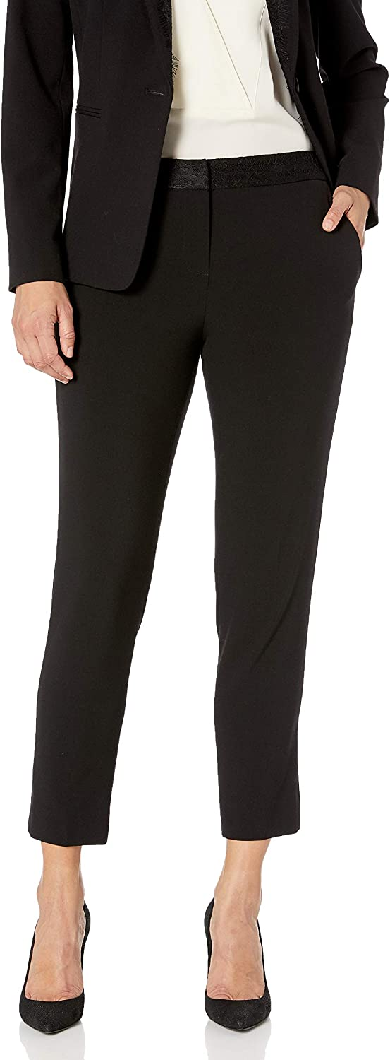 Tahari ASL Women's Ankle Pant with Lace Combo