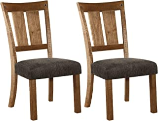 Signature Design By Ashley - Tamilo Dining Upholstered Side Chair - Set of 2 - Casual Style - Gray/Brown