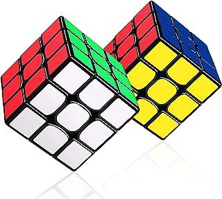 LOVEXIU Cubo Magico 3x3x3, Cubo 3x3 2 PCS, Speed Cubo 3x3, Speed Cube Profesional de Rápido Suave Durable y Fácil Giro par...