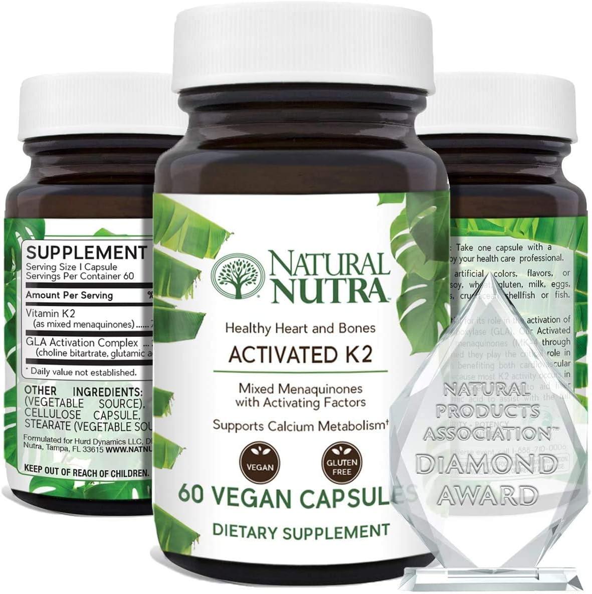 Natural Nutra Very popular Full Spectrum Vitamin K2 Supplement MK7 Pl to MK4 Miami Mall