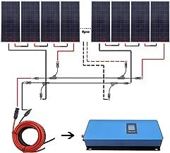 ECO-WORTHY 2000W Grid Tie Solar System Kit: 12pcs 150W Solar Panel + 2KW Pure Sine Inverter+Solar Cable