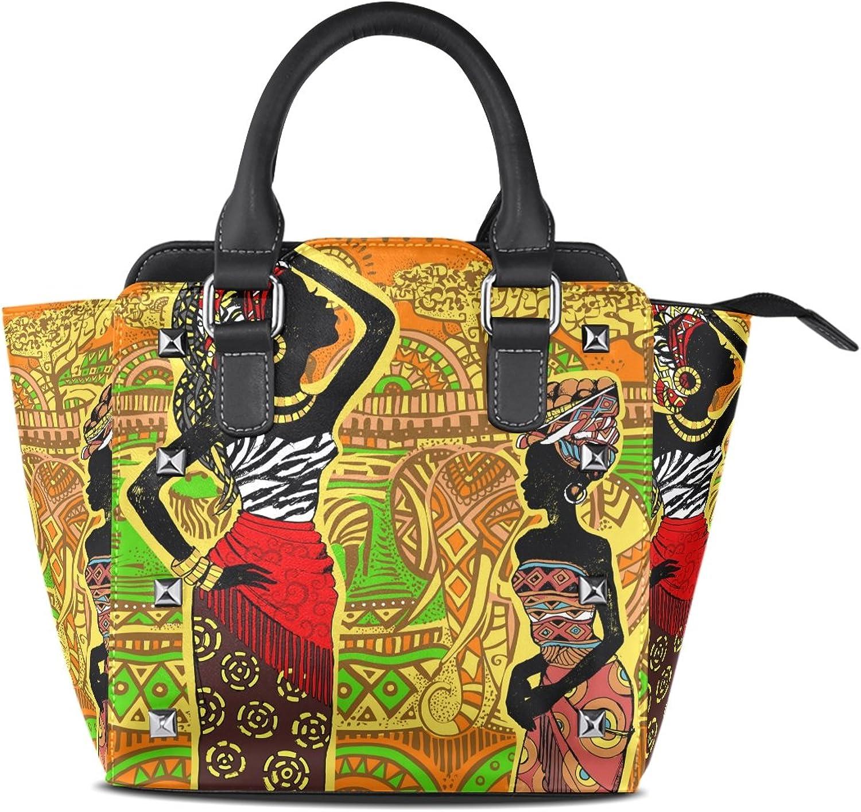 My Little Nest Women's Top Handle Satchel Handbag Beautiful Landscape African Women Ladies PU Leather Shoulder Bag Crossbody Bag