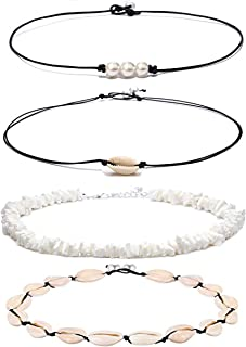 DB DUOBAO Shell Pearl Choker Necklace for Women Hawaiian...