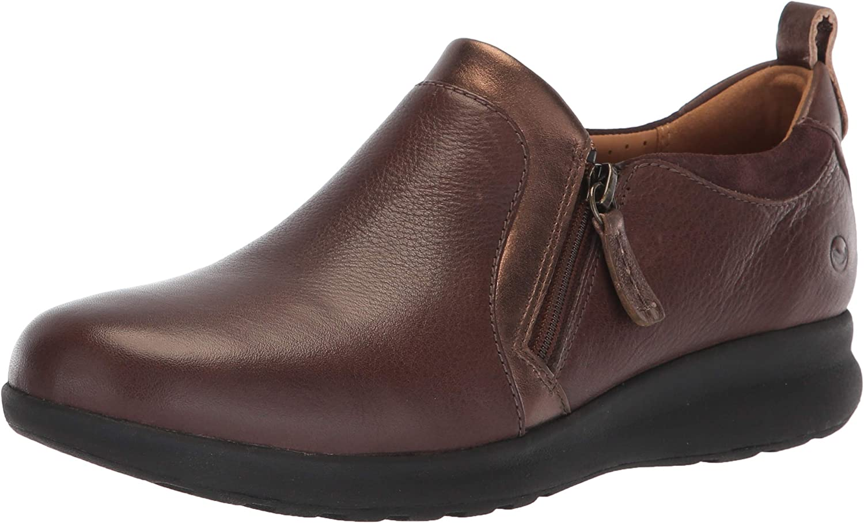 Clarks Womens Un Adorn Zip Loafer
