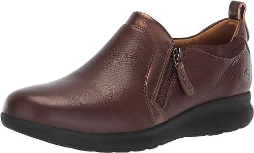 CLARKS Wohommes Un Adorn Zip Dark marron Leather Suede Combination 7.5 A US