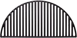 Dracarys Half Moon Cast Iron Cooking Grate Sear Grate BBQ Grill Grate Fire Pit Grate Thanksgiving Day Gifts Cast Iron Grate for Kamado Grills and Kettle Grill(21.5 inch)