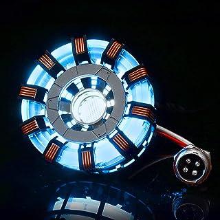 CCChaRLes Mk2 Tony Diy Arc Reactor Lamp Kit En Acier Inoxydable Illuminant Led Flash Light Set