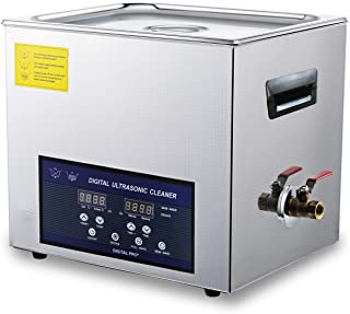 Ultrasonic Gun Cleaner 10L Digital Large Lab Ultrasonic Cleaners for Parts Dentures Jewelary Stainless Steel Dual Frequency Cleaner 28/40khz