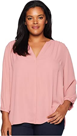 Plus Size Pintuck Blouse