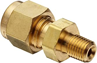 Parker A-Lok 2MSC2N-B Brass Compression Tube Fitting, Adapter, 1/8
