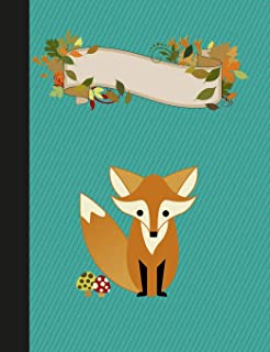 Woodland Fox Primary Story Journal Composition Book: Kindergarten to Year 2 Draw and Write Creative Writing Notebook, Dott...
