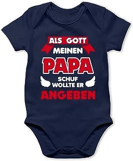 Shirtracer Sprüche Baby - Als Gott Papa Schuf - Baby Body Kurzarm für Jungen und Mädchen